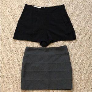 Aeropostale skirt & dress shorts